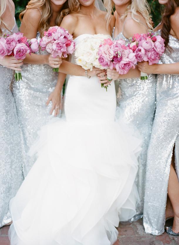 Silver Sparkle Bridesmaid Dresses  SouthBound Bride
