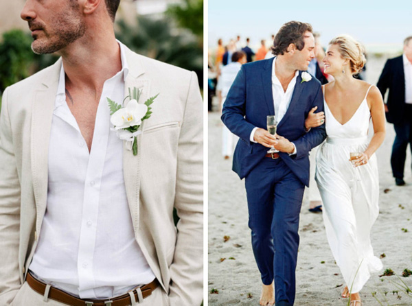20 Beach Wedding Looks for Grooms  Groomsmen  SouthBound Bride