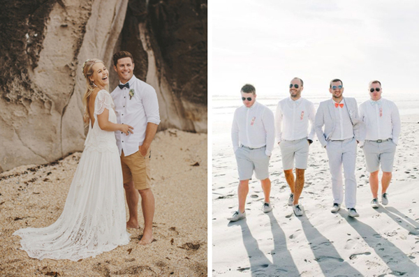 20 Beach Wedding Looks for Grooms  Groomsmen  SouthBound