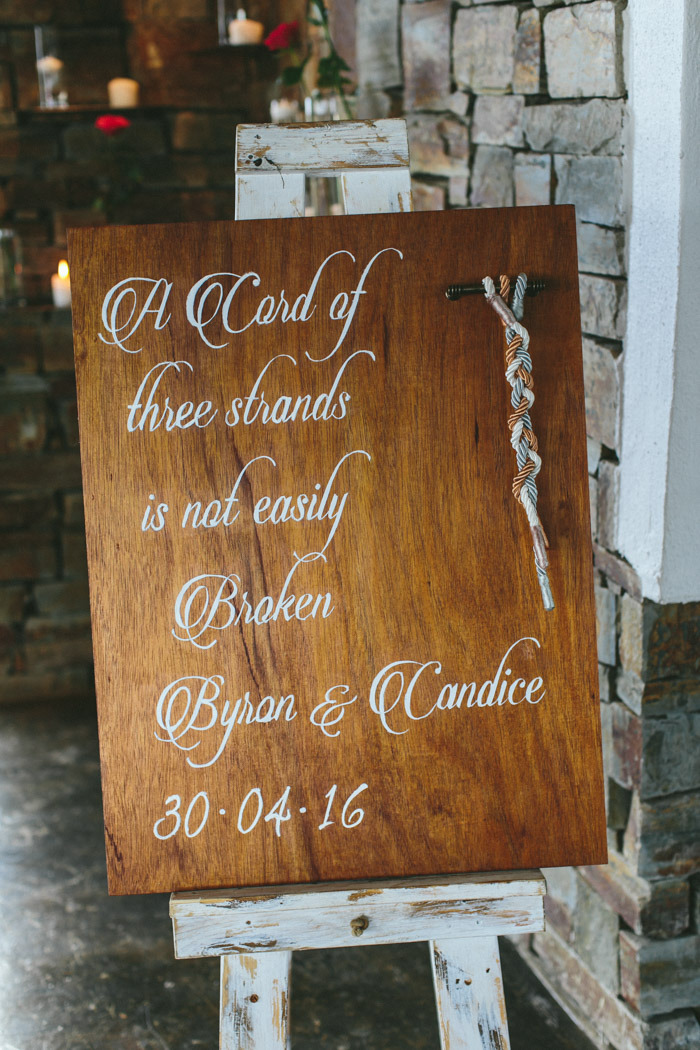 Braid Wedding Ceremony Sign   Credit: Knot Just Pics
