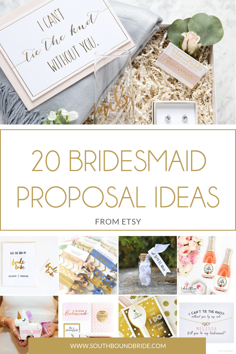 20 Bridesmaid Proposal Ideas from Etsy  SouthBound Bride