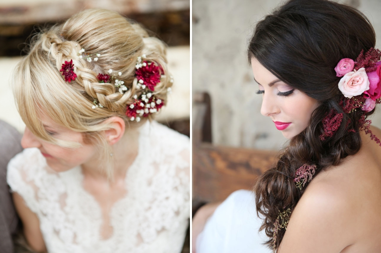 20 Bridal Hairstyles With Real Flowers