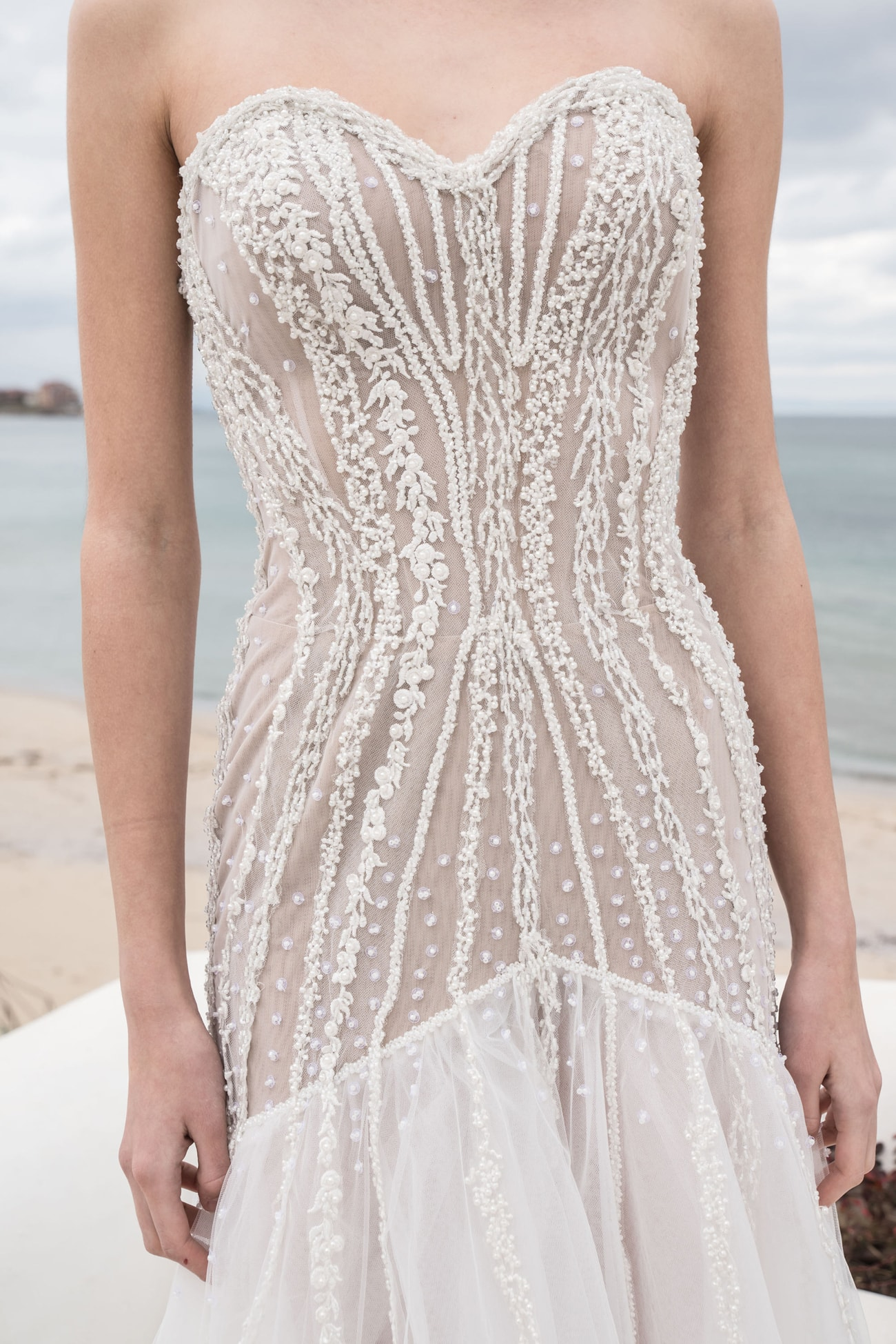 20 Chic  Sheer Wedding Dresses from Etsy  SouthBound Bride