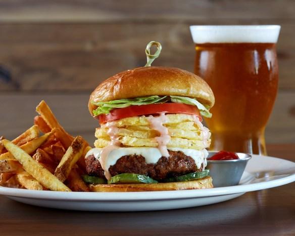 A Burtons Grill Maxx Burger
