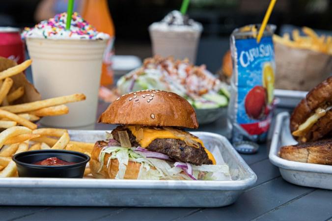 A Chuck & Patty's Hamburger