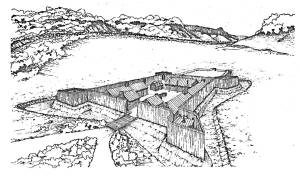 Conceptualized Drawing of Fort Prince George
