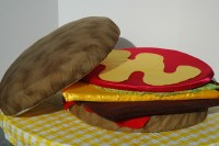 The Hamburger Pillow | Southcastle Creations