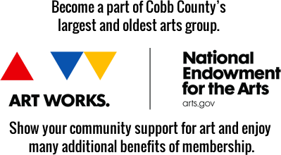 Become a part of Cobb County's largest and oldest art group. Show your community support for art and enjoy many additional benefits of membership
