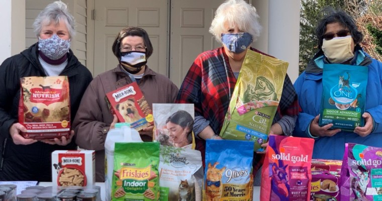 South Church says Thank you! We appreciate the donations for the Pet Food Drive and the Book Drive.