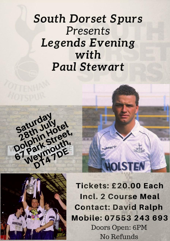 Legends Evening With Paul Stewart