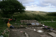 Looking SE from site of toilet to site of missing well! 8th September 2013.
