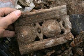 Part of a cast iron coal grate? 22nd September 2013.