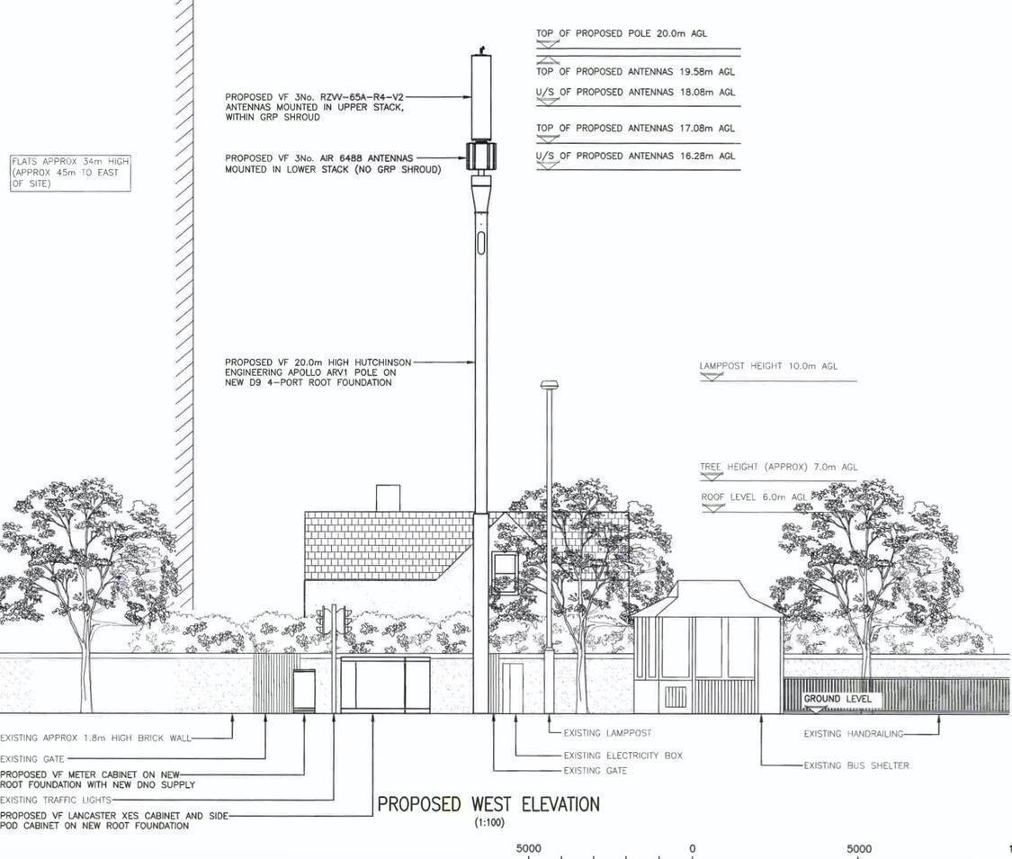 Planning application for a transmitter mast opposite Downs