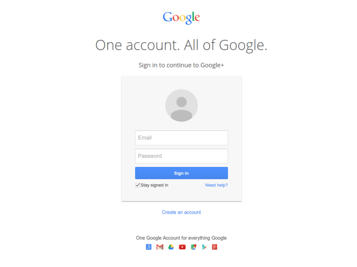One account. All of Google.