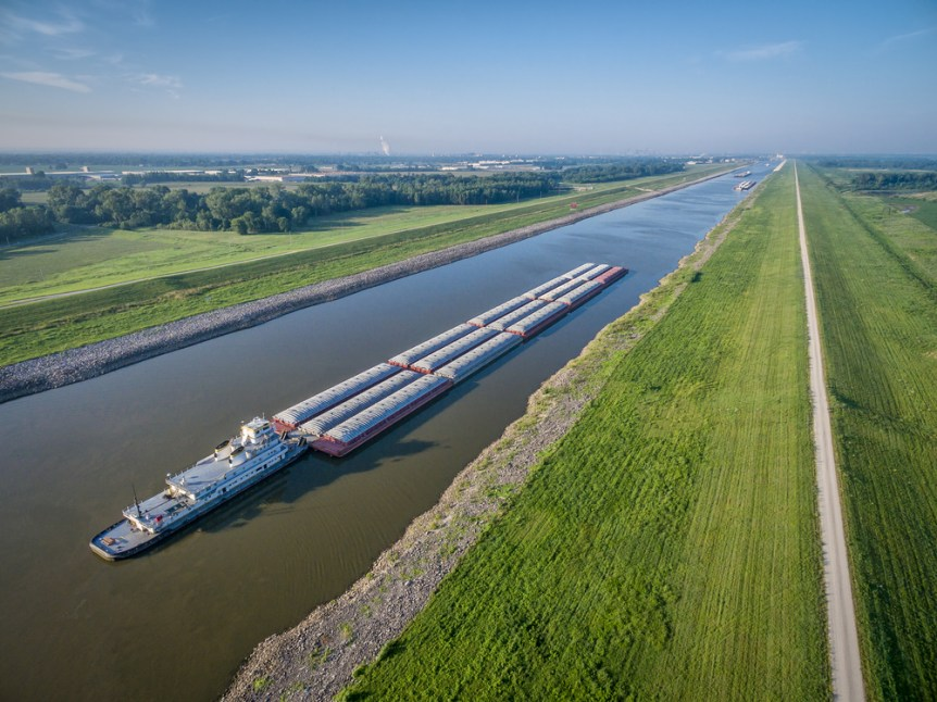 river barge traffic