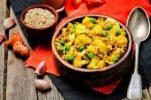 cauliflower-green-peas-turmeric-rice