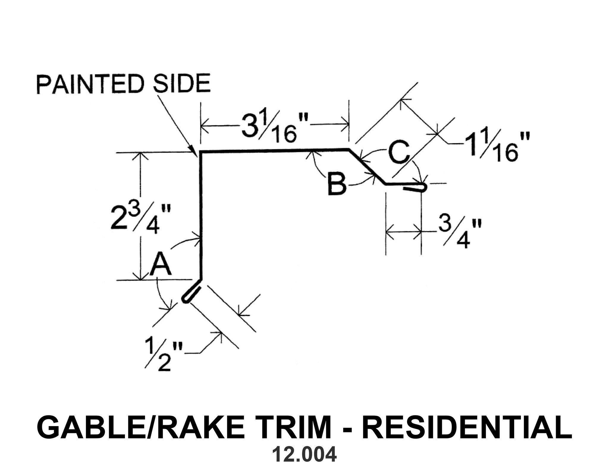 Gable Rake Trim