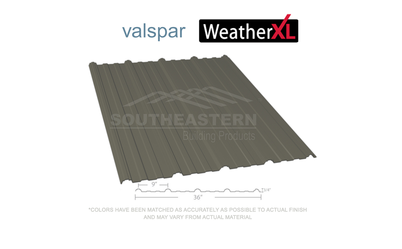 40 Year Valspar Weather Xl Burnished Slate Metal Roofing