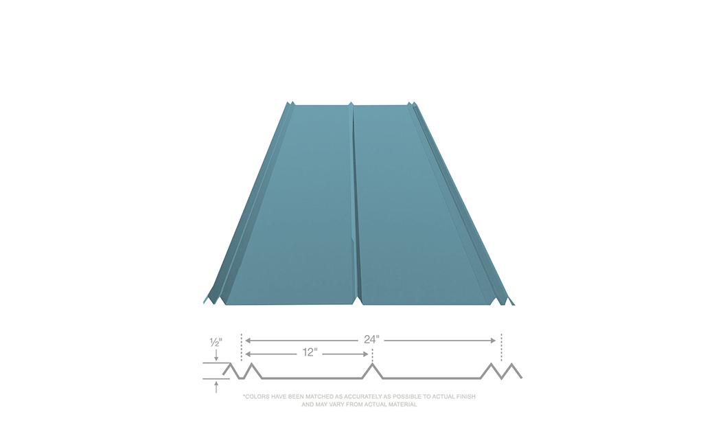 5v Crimp 10 Year Metal Roofing 29 Gauge Hawaiian Blue