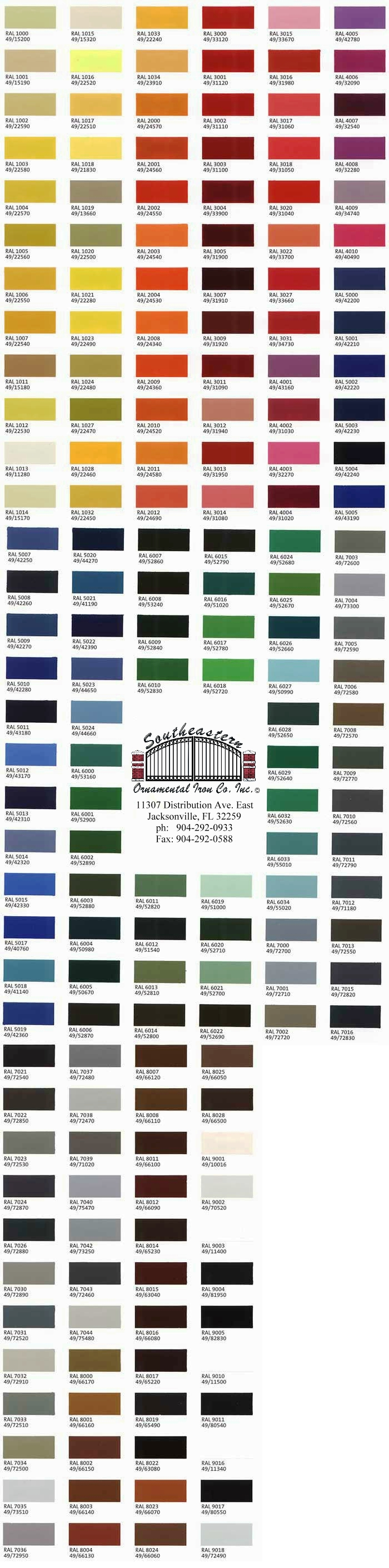 medium resolution of color chart