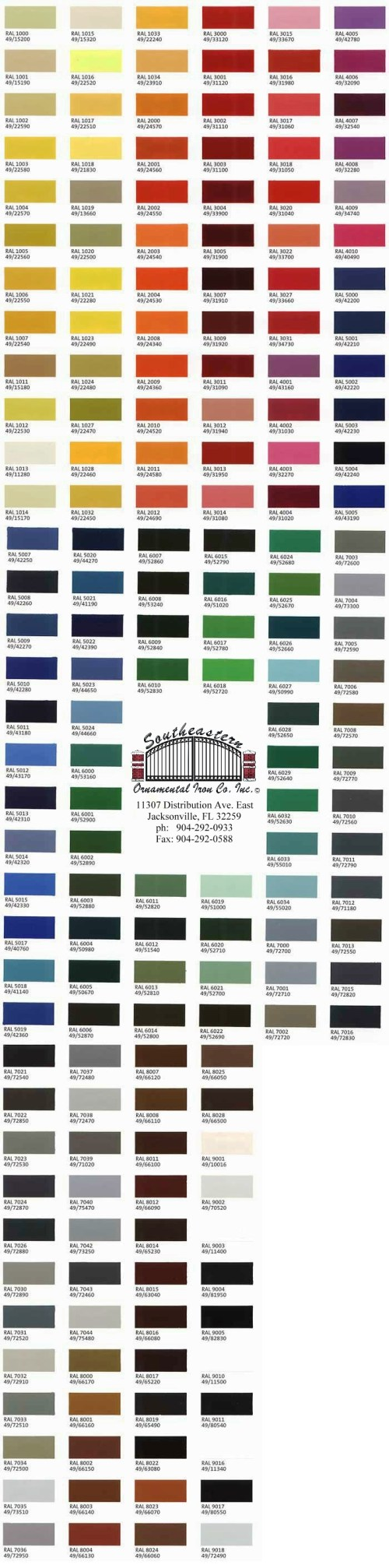 small resolution of color chart