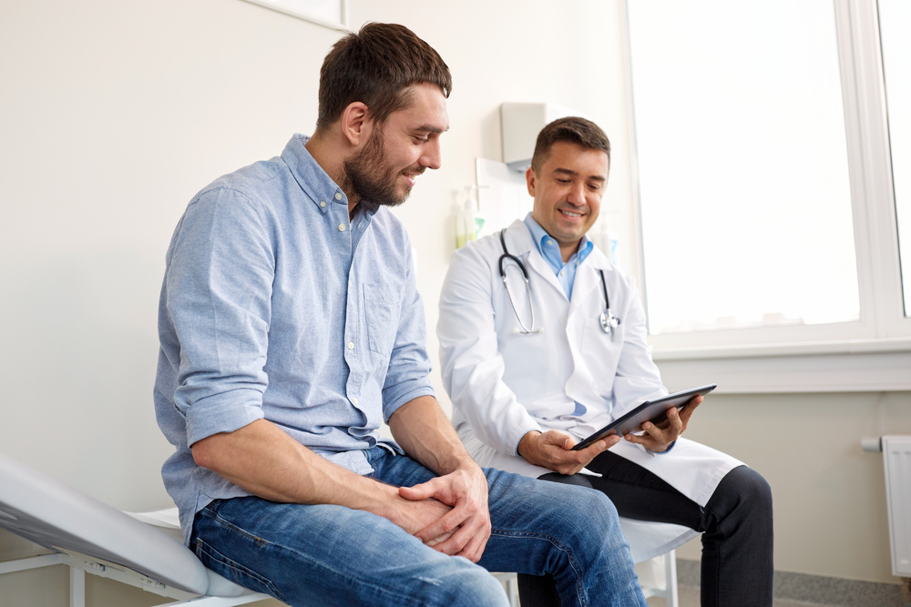 patient discussing BPH with doctor