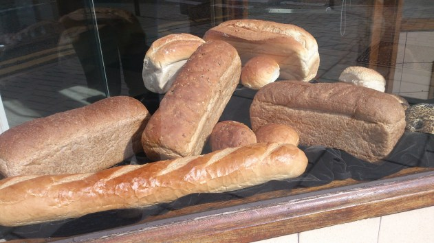 Window display of bread