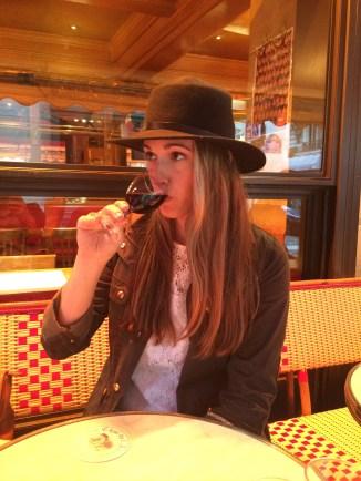 Red wine + this hat = my Parisian life...