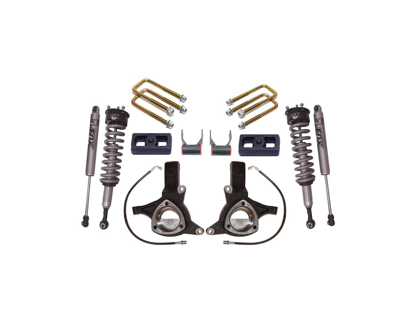 16 Gm Silverado 2wd 7 Lift Kit W Fox Shocks