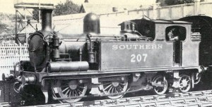 O2 no. 207 in Maunsell lined green.  Picture from my collection  and British Railways Southern Region archive