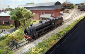 N Class 1848 makes a guest appearance on shed.