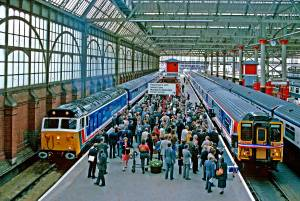 The Launch of Network South East took place on 10th June 1986 at Waterloo Station. Picture courtesy and copyright Brian Morrison