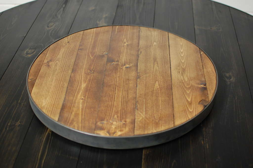 outdoor kitchen kit costco remodel wine barrel wood round lazy susan • southern sunshine
