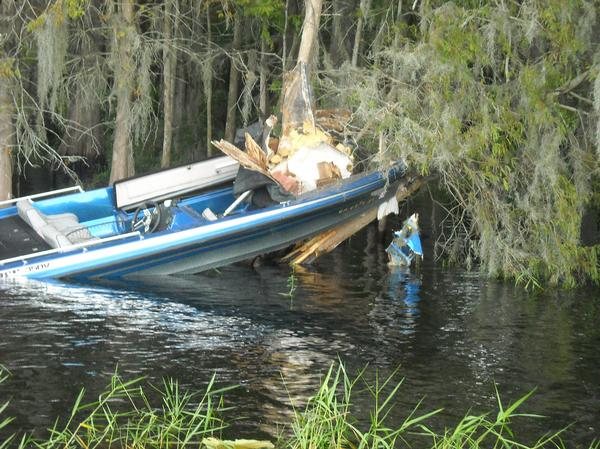 bass boat accident near hatchnahaw  Southern Airboat
