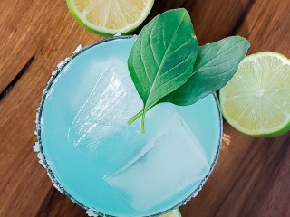 Blue Basil Mezcal Margarita Feature Image