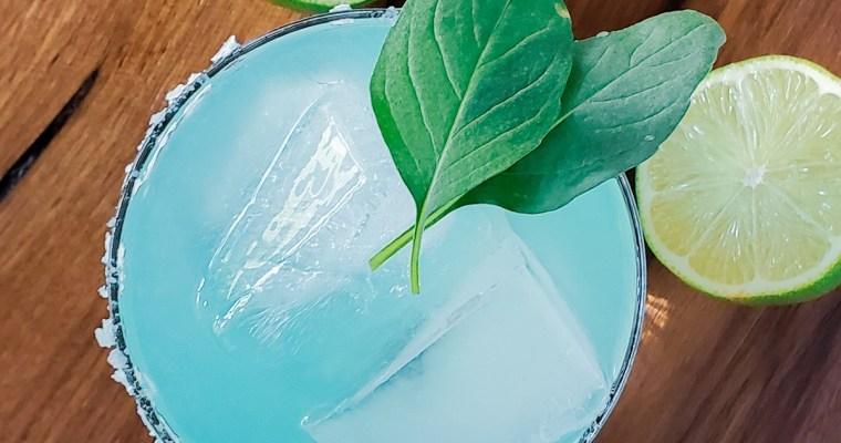 Blue Basil Mezcal Margarita