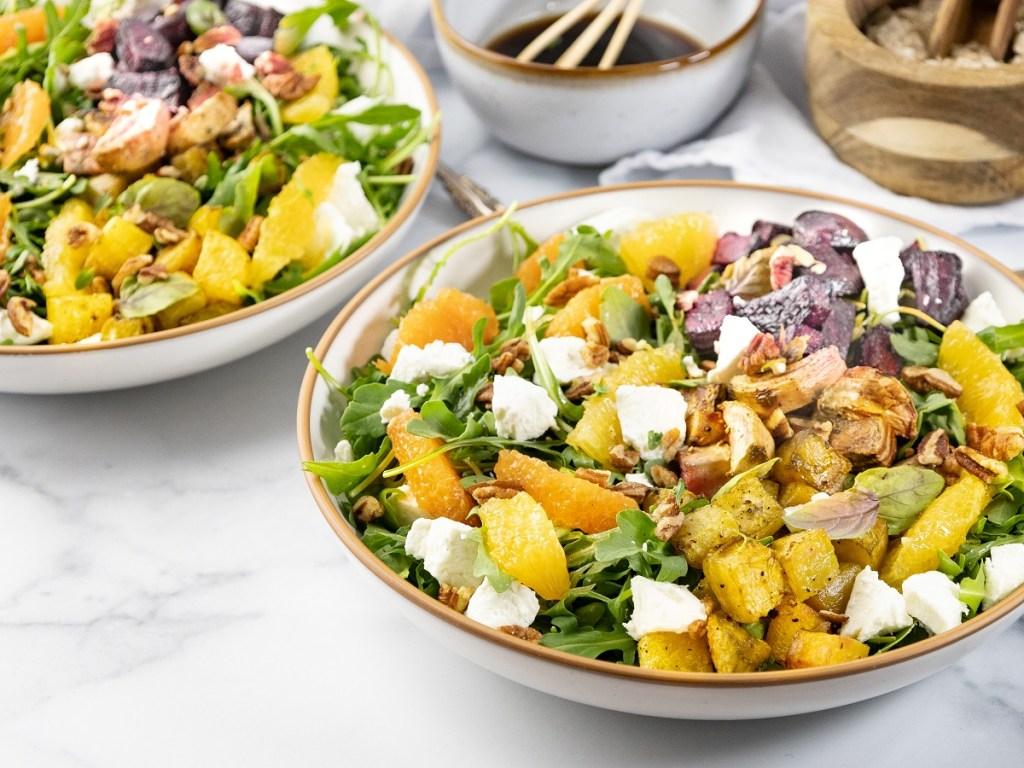 Beet Salad with Arugula and Balsamic Vinaigrette