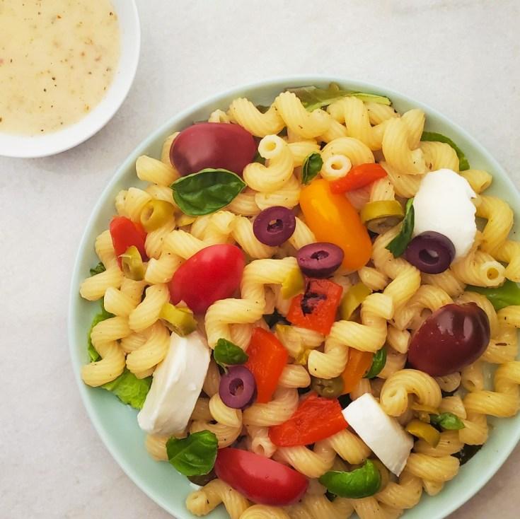 Mediterranean Pasta Salad Feature Image