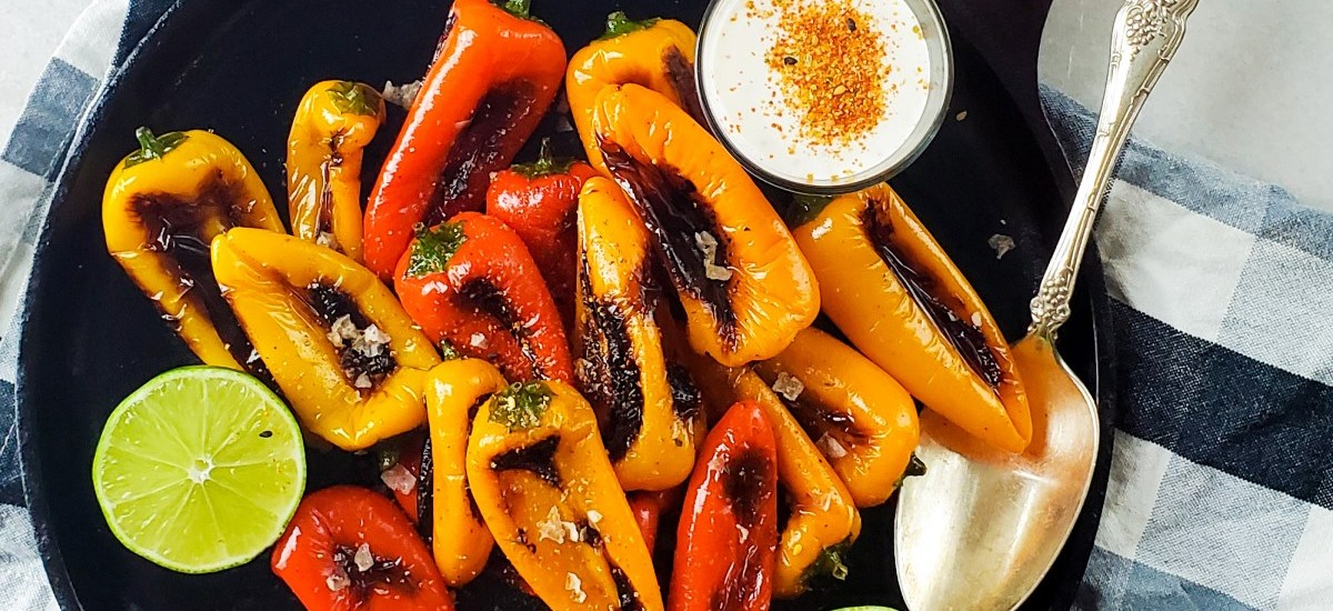 Mini Sweet Peppers Recipe with Lime Crema