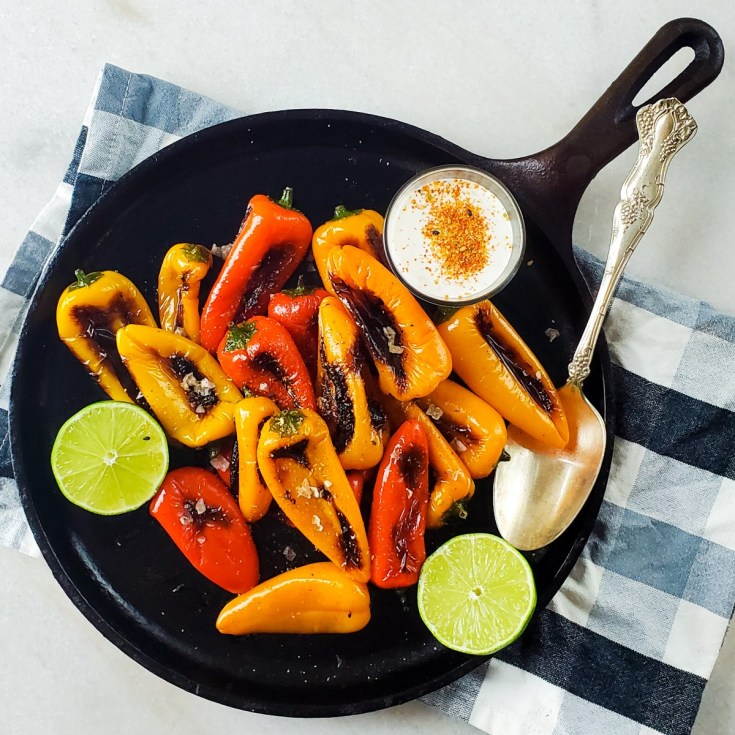mini sweet peppers recipe feature image