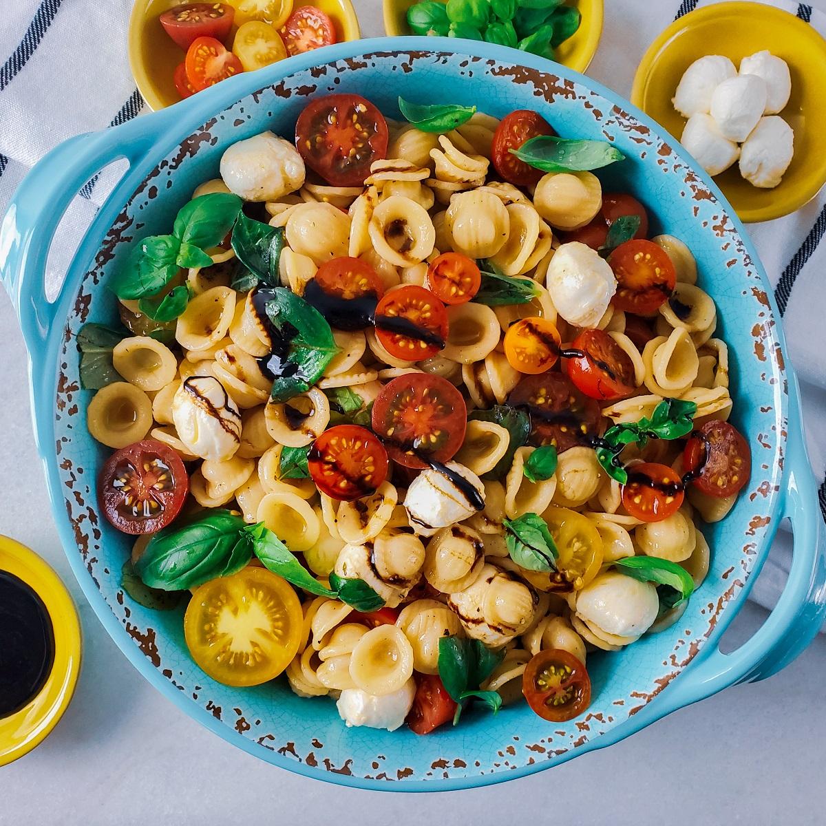 Caprese Pasta Recipe Feature