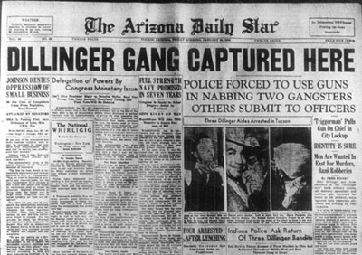 Tucson Police Capture The Dillinger Gang No Shots Fired