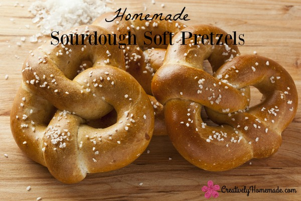 Homemade Warm Soft Pretzel with salt on top ** Note: Shallow depth of field