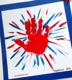 Firework Handprint