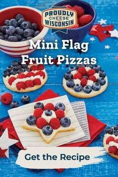 Mini Flag Pizzas