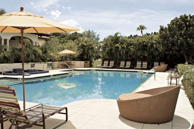 Elegant swimming pools are attractive features at marinas but can significantly add to the slip fees. Photo: The Resort @ Longboat Key.