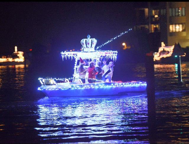 Aaron's boat in Melbourne, FL cocoa beach boat parade
