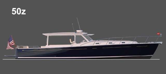 The MJM Yachts 50z, the flagship of the fleet.