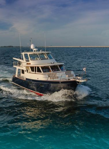 That sturdy construction is a hallmark of the Marlow Explorer 49E series. Built to ISO, ABYC, Unrestricted Navigation, Lloyd's, and Det Norske Veritas standards. Photo: jlambertphotos.com