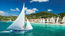 The Grenada Sailing Festival takes place every year on Grand Anse Beach. The friendly rivalry of this close-knit community is often expressed in Grenada through the creation of many local regattas and competitions to see which competitor has the fastest vessel. Photo: Joshua Yetman